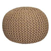 LABEL51 Puf wydziergany z bawełny, M, beżowy