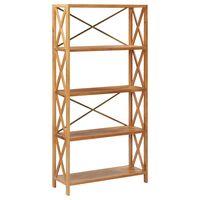 vidaXL Regał z 5 półkami, 80x30x163,5 cm, lite drewno dębowe