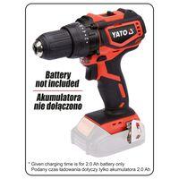 YATO Bezszczotkowa wkrętarko-wiertarka bez akumulatora, 18 V, 42 Nm