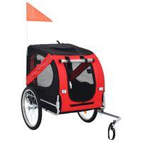 vidaXL Przyczepka rowerowa dla psa, czerwono-czarna