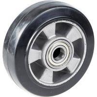 """Koło 152mm 6 """", Czarna Guma Z Aluminiowym Środkiem, Nośność 330kg"""