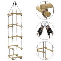 vidaXL Drabinka sznurowa dla dzieci, 200 cm, drewniana