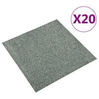 vidaXL Podłogowe płytki dywanowe, 20 szt., 5 m², 50x50 cm, zielone