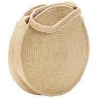 vidaXL Okrągła torebka na ramię, naturalna, ręcznie robiona, jutowa