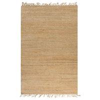 vidaXL Ręcznie tkany dywan jutowy, 120 x 180 cm, naturalny