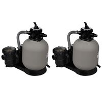 vidaXL Piaskowe pompy filtrujące, 2 szt., 600 W, 17000 L/h
