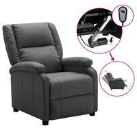 vidaXL Elektryczny fotel rozkładany, antracytowy, sztuczna skóra