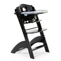 CHILDHOME Krzesełko do karmienia 2-w-1 Lambda 3, czarne