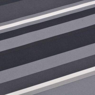 vidaXL Parawan balkonowy z tkaniny oxford, 75x400 cm, szare paski