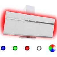 vidaXL Okap kuchenny LED RGB, 90 cm, stal nierdzewna i hartowane szkło