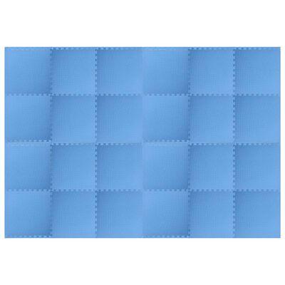 vidaXL Maty podłogowe, 24 szt., 8,64 ㎡, pianka EVA, niebieskie