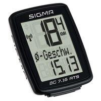 Sigma Licznik rowerowy BC 7.16 ATS, czarny, 7162