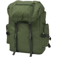 vidaXL Plecak w wojskowym stylu, 65 L, zielony