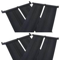 vidaXL Panele solarne do podgrzewania basenu, 4 szt., 80x310 cm