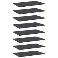 vidaXL Półki na książki, 8 szt., szare, 80x50x1,5 cm, płyta wiórowa