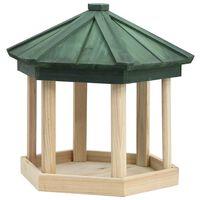 vidaXL Ośmiokątny karmnik dla ptaków, lite drewno jodłowe, 33x30 cm