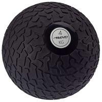 Avento Piłka slam ball z teksturowaną powierzchnią, 4 kg, czarna