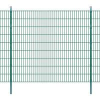 vidaXL 2D Panele i słupki ogrodzeniowe 2008x1830 mm 36 m zielone