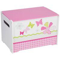 Worlds Apart Pudełko na zabawki Patchwork 60x39x39, różowe, WORL230004