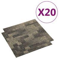 vidaXL Podłogowe płytki dywanowe, 20 szt., 5 m², szaro-beżowe
