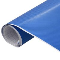 vidaXL Folia samochodowa, matowa, 4D, niebieska, 200x152 cm