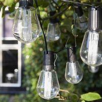 Luxform Lampki solarne Alicante, 10 żarówek LED, przezroczyste
