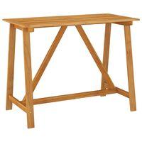 vidaXL Ogrodowy stolik barowy, 140x70x104 cm, lite drewno akacjowe