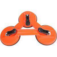 ProPlus Uchwyt próżniowy z 3 ssawkami, aluminiowy, pomarańczowy