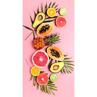 Good Morning Ręcznik plażowy PINK FRUITS, 75x150 cm, różowy