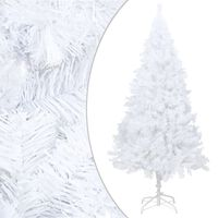 vidaXL Sztuczna choinka o grubych gałązkach, biała, 180 cm, PVC