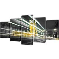 vidaXL Zestaw obrazów na płótnie, Londyński Big Ben, 100x50 cm