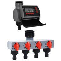 vidaXL Sterownik nawadniania z jednym ujściem i dystrybutorem wody