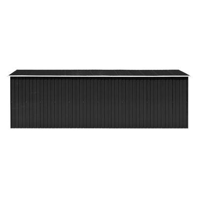 vidaXL Szopa ogrodowa, 257x580x181 cm, metal, antracytowa