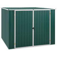vidaXL Szopa ogrodowa, zielona, 195x198x159 cm, stal galwanizowana
