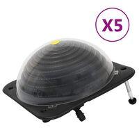 vidaXL Solarne podgrzewacze do basenu, 5 szt., 75x75x36 cm, HDPE