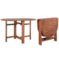 vidaXL Stół ogrodowy, 120x70x74 cm, lite drewno akacjowe