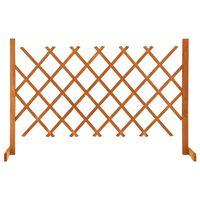 vidaXL Ogrodowy płot kratkowy, pomarańczowy, 120x90 cm, drewno jodłowe