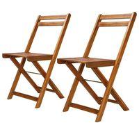 vidaXL Krzesła bistro, ogrodowe, 2 szt., lite drewno akacjowe