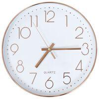 vidaXL Zegar ścienny, 30 cm, różowe złoto