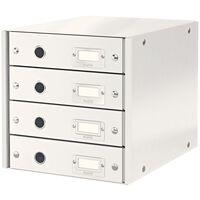 Leitz Szafka biurowa WOW, biała, 4 szuflady