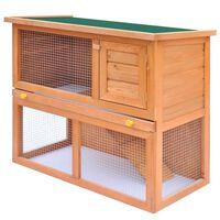 vidaXL Klatka dla królików i małych zwierząt, 1 drzwiczki, drewniana
