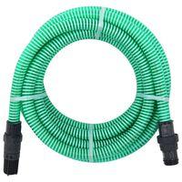 vidaXL Wąż ssący ze złączami z PVC, 4 m, 22 mm, zielony