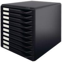 Leitz Zestaw 10 szuflad na dokumenty, czarny