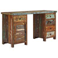 vidaXL Biurko z szafką i szufladami, drewno z odzysku, 140x50x77 cm