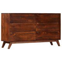 vidaXL Komoda, brązowa, 140 x 40 x 80 cm, lite drewno mango