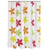 RIDDER Zasłona prysznicowa Textile, w kwiaty