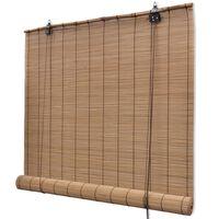 vidaXL Rolety bambusowe, 100 x 160 cm, brązowe