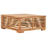 vidaXL Stolik ogrodowy, 69,5x69,5x31 cm, lite drewno tekowe