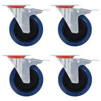 vidaXL 12 kółek skrętnych, 125 mm