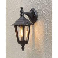 KONSTSMIDE Lampa ścienna Firenze, świecąca w dół, matowa czerń